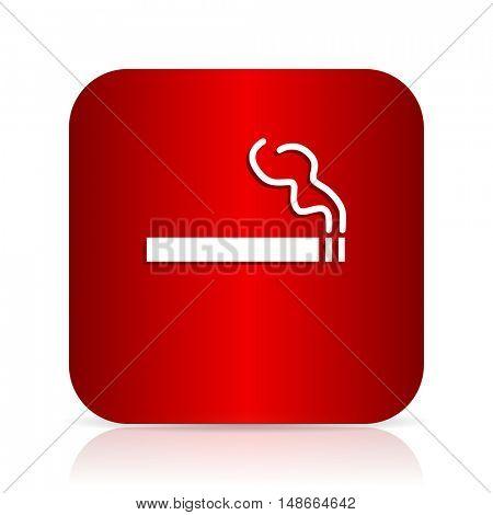 cigarette red square modern design icon