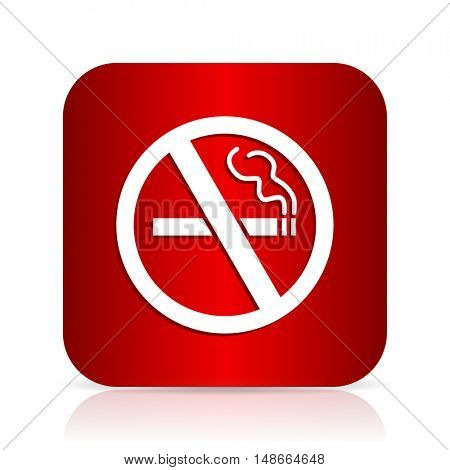 no smoking red square modern design icon