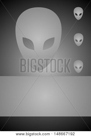 abstract gray background with invaders suitable as a container
