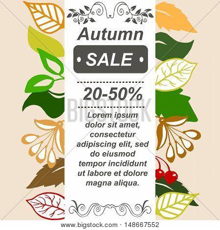 Very high quality original autumn sale booklet or brochure, leaflet