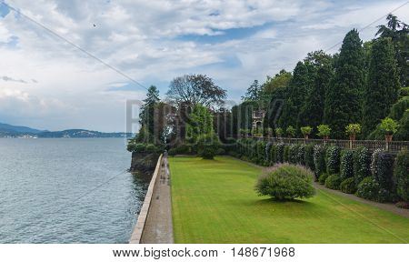 the island of isola madre on the lago maggiore in northern italy.