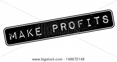 Make Profits Rubber Stamp