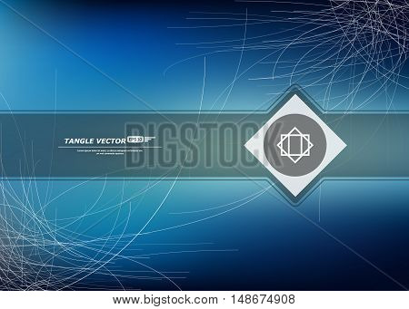 Abstract composition thread interlacement base swirl backdrop spider net bottom twiddle interlock texture plexus background tangle weave icon quirk sewing headpiece EPS 10 vector illustration