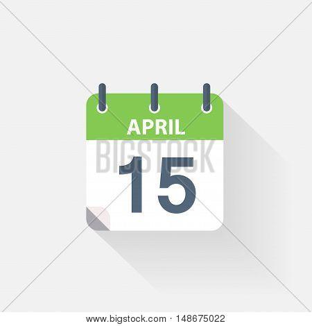15 april calendar icon on grey background