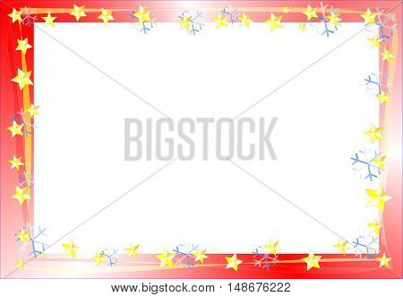 beautiful abstract Christmas Frame suitable for Christmas cards