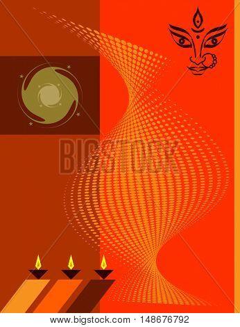 Diwali Greeting Design Vector Art