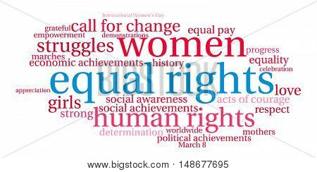 Equal Rights Word Cloud
