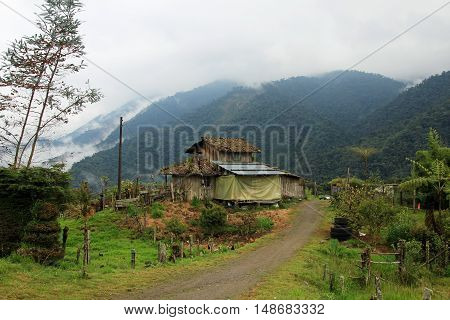 Very authentic house in cloudforest in the ecuadorian mountains an the way down to the amazon basin.