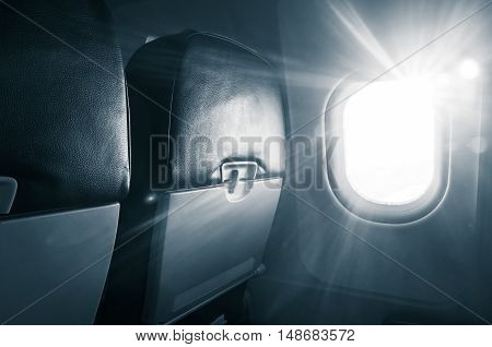 Jet Chairs With Folding Tables, Glowing Porthole