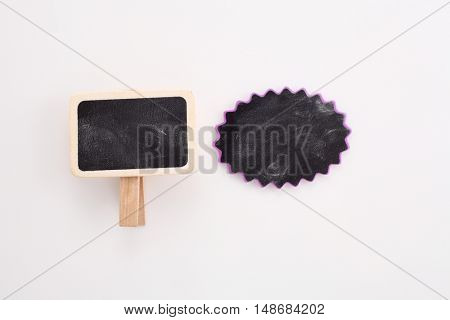 blank blackboard for copyspace on the white background