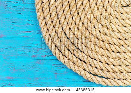 Rope In Corner Of Blue Ocean Theme