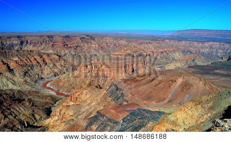 landscape of oldest in the Fish river Canyon south Namibia