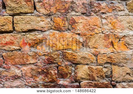 Old stone wall texture background. Wall texture