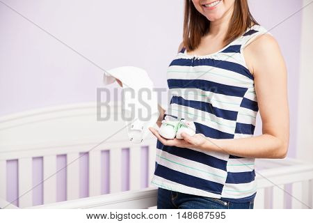 Happy Woman Waiting For Her Baby
