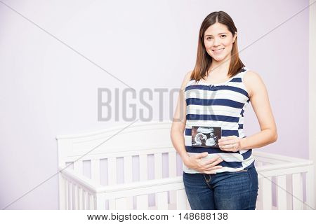 Pregnant Woman Loving Her Ultrasound