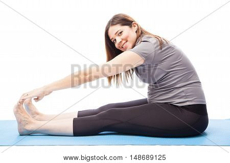 Woman Working Out During Pregnancy