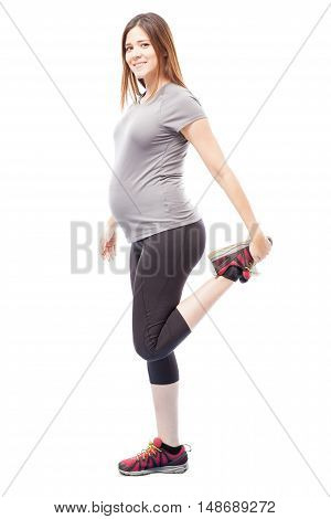 Pregnant Woman Going For A Run