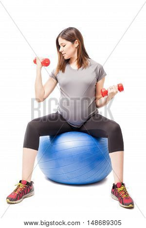 Exercising On An Stability Ball