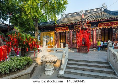 Suzhou China - October 232016: Bao'en Temple complex (Beisi Temple or North Temple Pagoda) in Suzhou Jiangsu Province China. One of the Buddha temples in China.