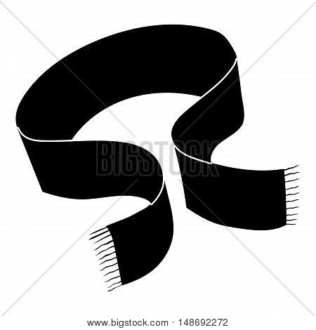 Scarf icon in simple style on a white background vector illustration