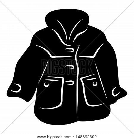 Women coat icon in simple style on a white background vector illustration