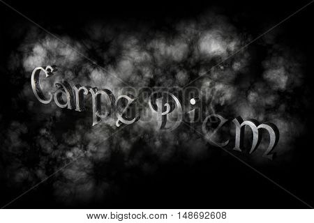 Carpe Diem 3D Render - Latin Phrase Means Capture The Moment