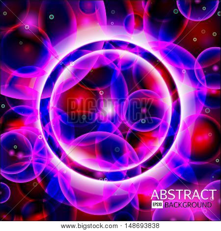 Abstract background. Rose, violet, blue and red cells. Science vector EPS 10 illustration