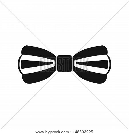 Bow tie icon in simple style on a white background vector illustration