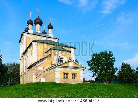 Church of Holy Martyrs Florus and Laurus in old Russian town of Uglich Russia