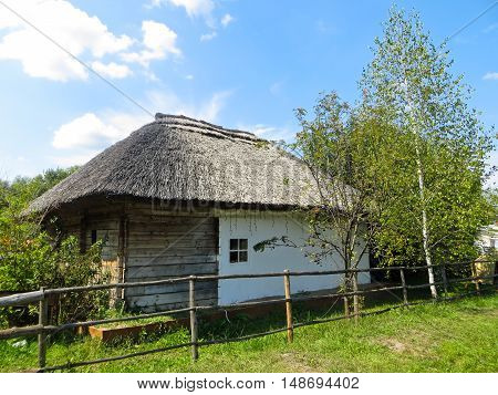 Old ukrainian traditional house in a village