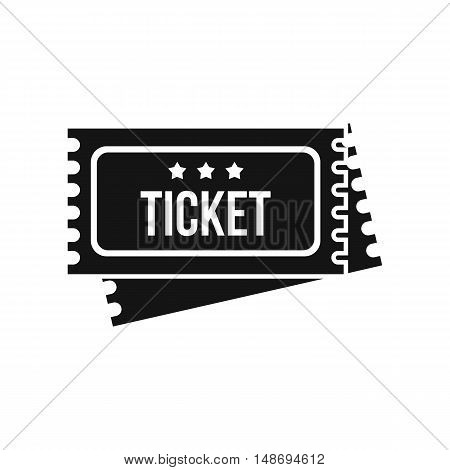 Circus show tickets icon in simple style on a white background vector illustration