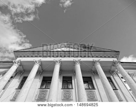 The old architectural building Theater Drama sight old vintage height