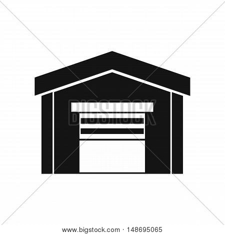 Garage icon in simple style on a white background vector illustration