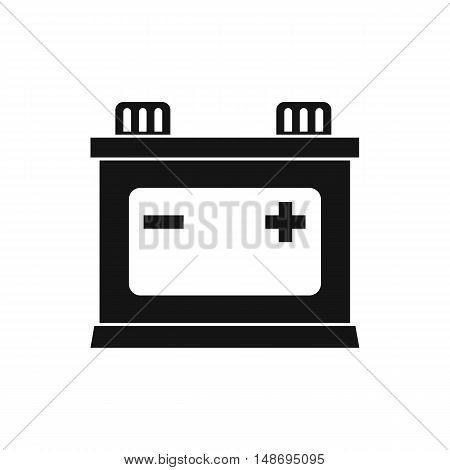 Car battery icon in simple style on a white background vector illustration