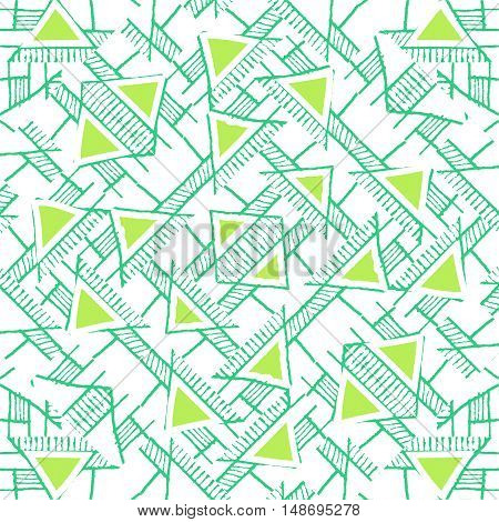Ethnic Geo Seamless Pattern