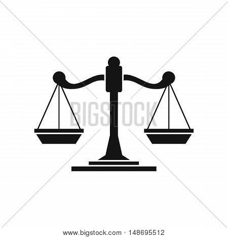 Scales of justice icon in simple style on a white background vector illustration