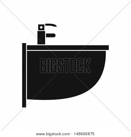Bidet icon in simple style on a white background vector illustration