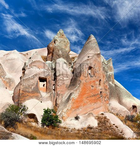 Unique Geological Formations In Cappadocia, Central Anatolia, Turkey