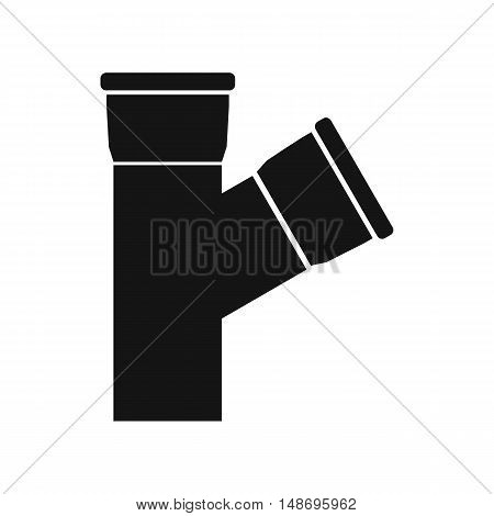 Plastic pipe connection icon in simple style on a white background vector illustration