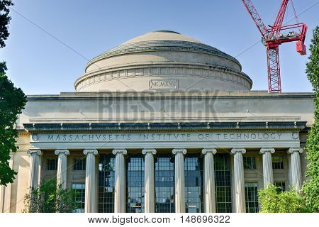 Boston, Massachusetts - September 5, 2016: The Great Dome of the Massachusetts Institute of Technology.