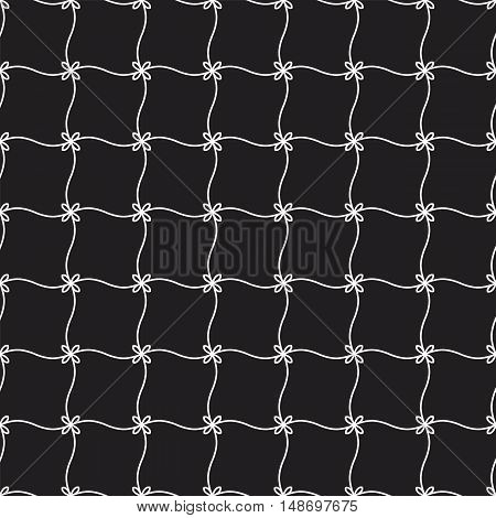 Vector seamless background with geometric ornament pattern made of repeating elements.