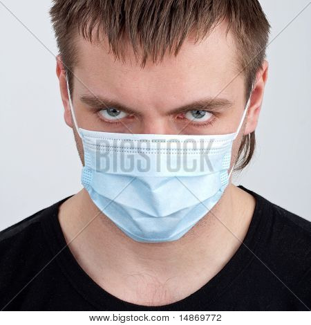 Man In Medical Mask