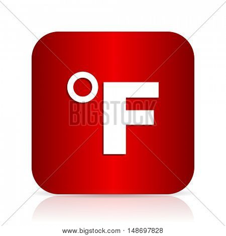 fahrenheit red square modern design icon