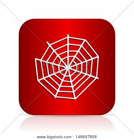 spider web red square modern design icon
