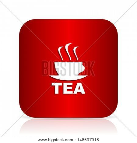 tea red square modern design icon
