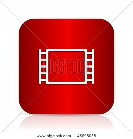 movie red square modern design icon