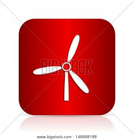 windmill red square modern design icon