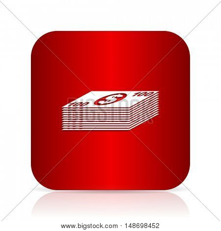 money red square modern design icon