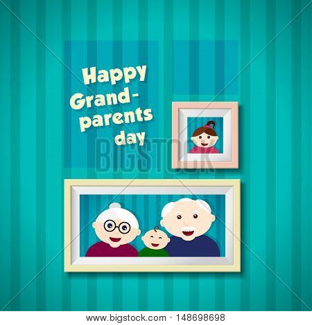 Happy grandparents day background. greeting card. Vector illustration