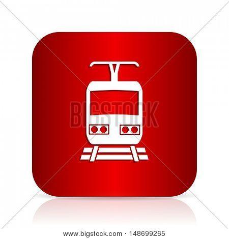 train red square modern design icon